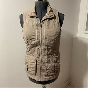 Craghoppers insect repellant outdoor beige vest.